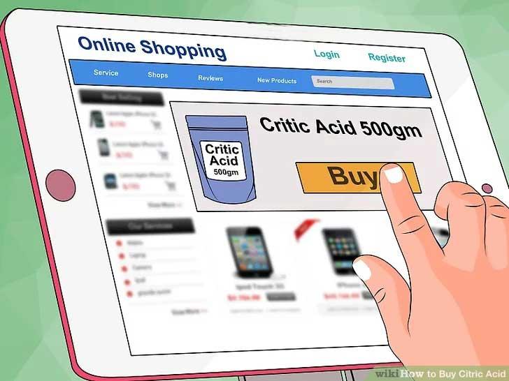 خرید آنلاین اسید سیتریک