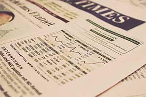 نمودار نوسانات قیمت بازار