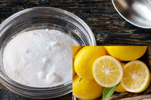 Reaction of citric acid with baking soda